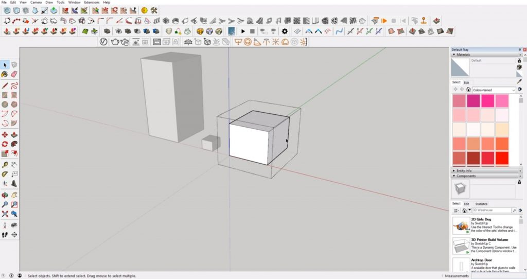scale in Sketchup using a group