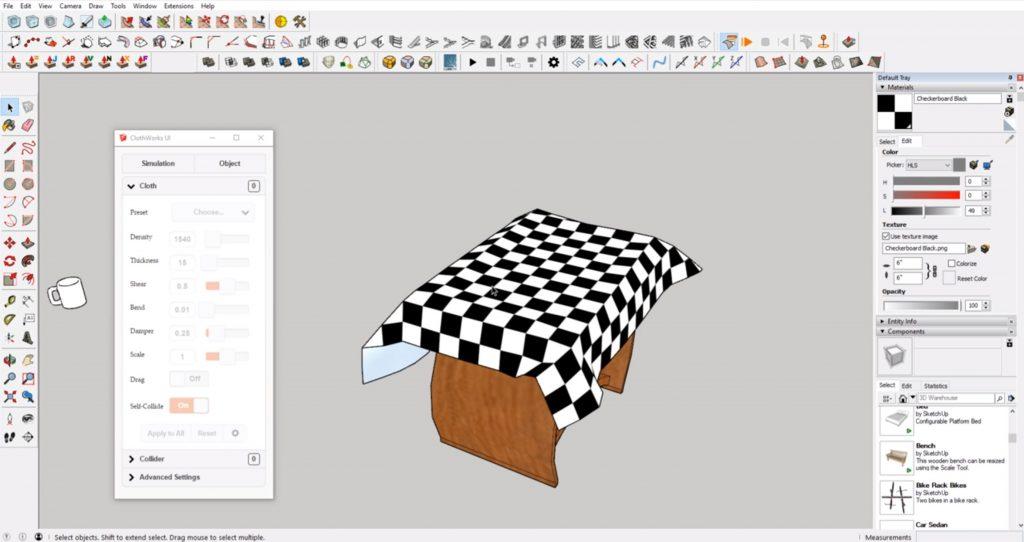 Best Sketchup Plugins: ClothWorks