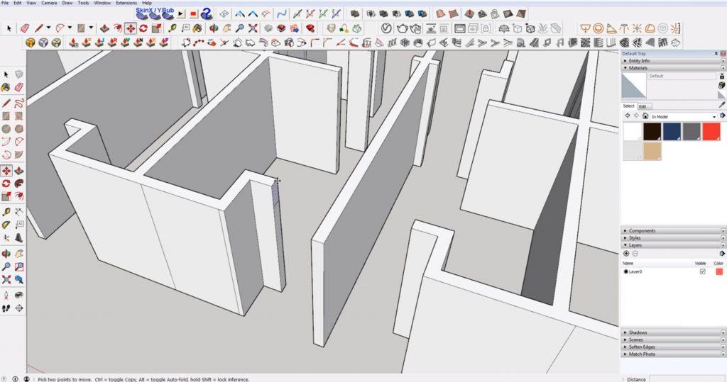 draw door header in DWG to 3D