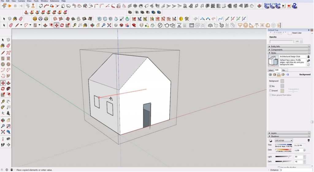Sketchup for beginners: copy windows