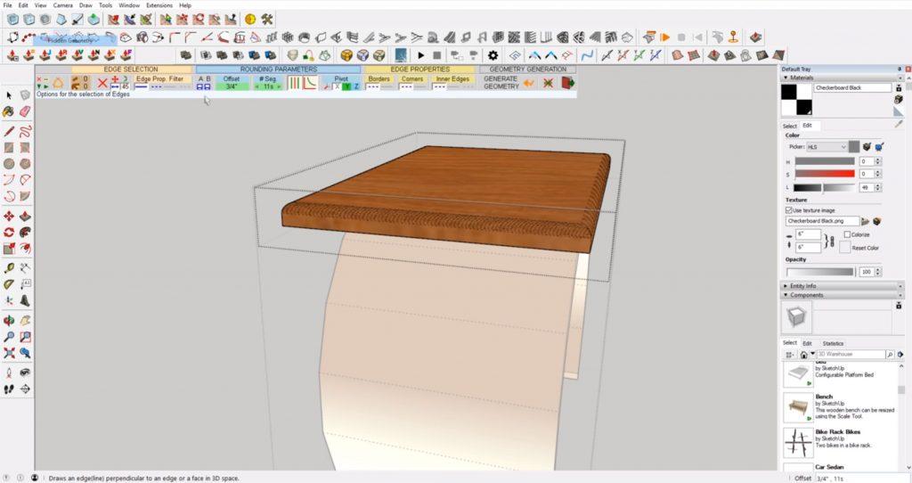 Best Sketchup Plugins: Rounded Corner