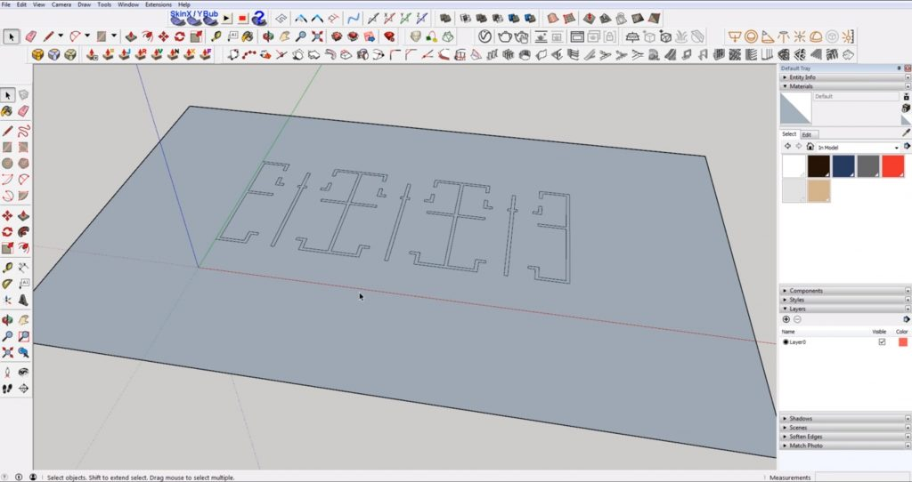 drape floor plan of DWG to 3D