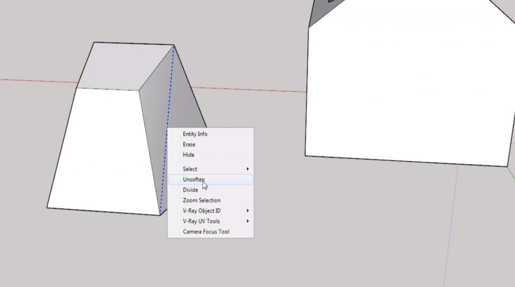 Sketchup for beginners: hidden lines