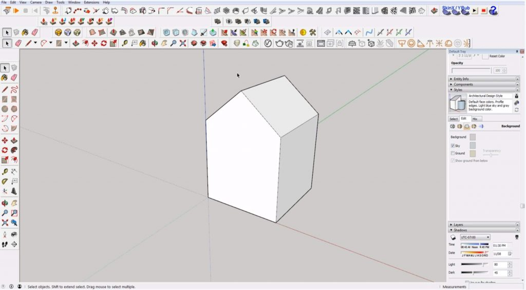 Sketchup for beginners: modeling a house