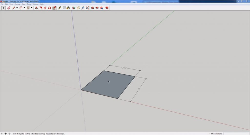 change units in Sketchup beginning measurements