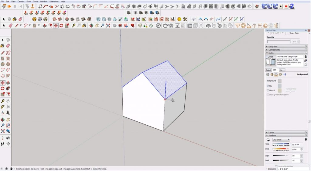 Sketchup for Beginners: change house height