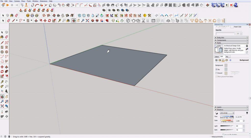 navigating Sketchup for beginners