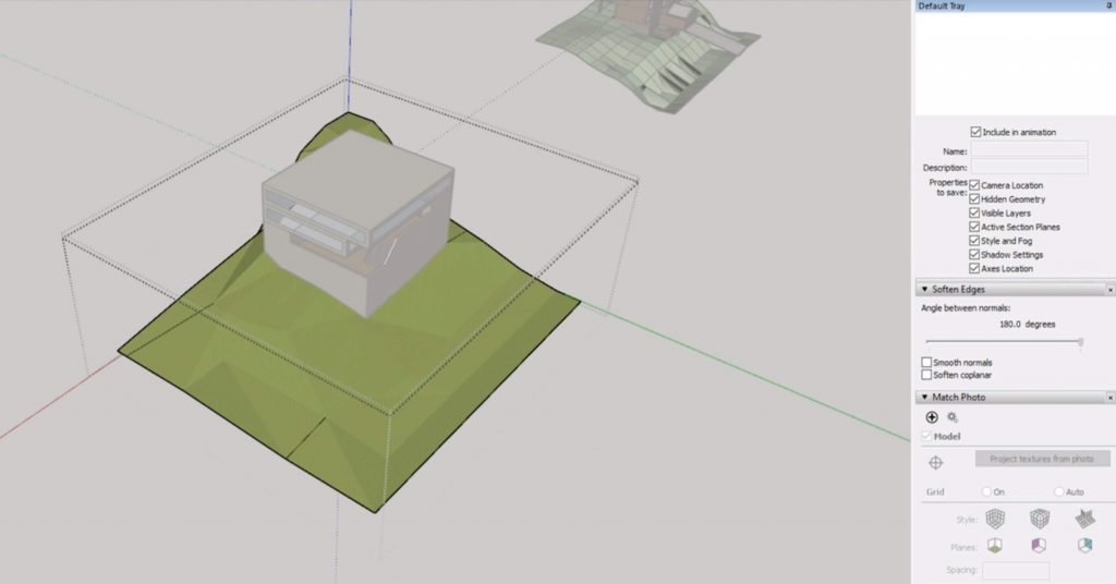 soften edges of Sketchup site model